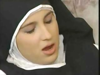 breasty granny shows breasty nun how to fuck and