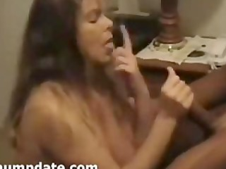 Cuckold films his wife sucking cock