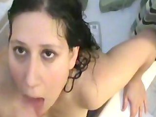 preggy wife sucks big ramrod and acquires