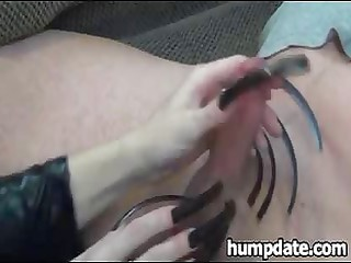 wife gives teasing cook jerking with lengthy