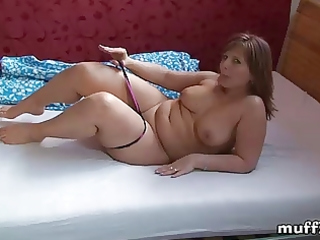 chubby mother i marie jeanne caresses her body