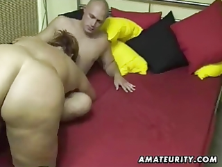 corpulent dilettante wife sucks and copulates at