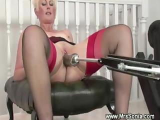 older brit and her sex machine