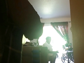 flashing dominican granny