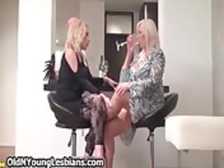 blonde aged wife seduces