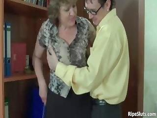 breasty aged slutty bitch receives cum-hole part10