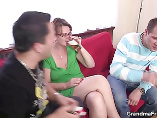 older lady is lured into some