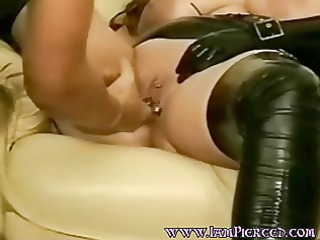 pierced wife with enormous cum-hole rings.