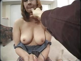 aged redhead with curly cum-hole has difficulty