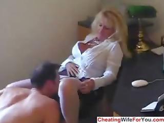 aged sexy secretary swallow cum