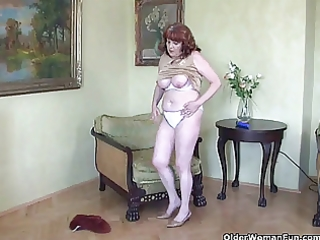 wicked granny has solo sex with sex toy