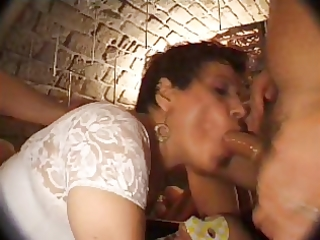 french aged n43 dark brown anal mama group-sex in