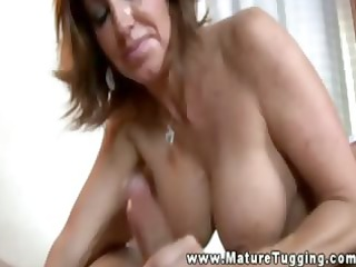 large titted aged jerking off boytoy
