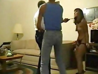husband forces wife to fuck an old darksome dude