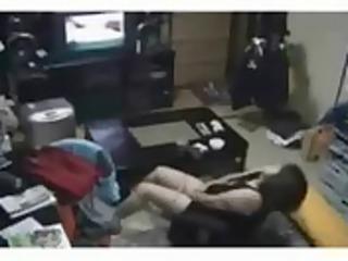 my mum in living room masturbates watching tv.