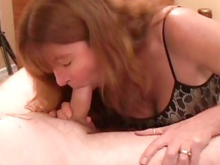 heavy chested redhead mother i gives hawt blowjob