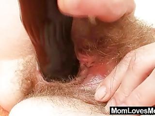 ugly granny matylda widens and toys bushy vagina