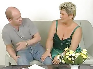 plump older housewife squirms