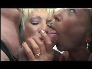 nasty old stud acquires sucked by grannies then