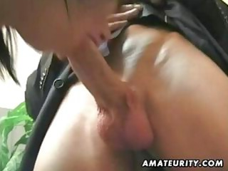 pigtailed brunette hair acquires into a three-way