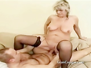 old granny gets her muff drilled in multiple poses