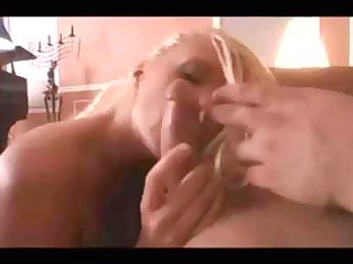 hawt breasty aged golden-haired chick blows and