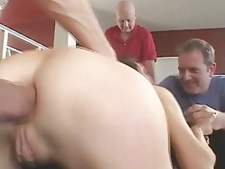 spouse watches wife acquire her ass...