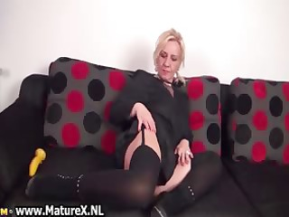 hot golden-haired older woman stripping part9