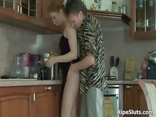 sexy looking breasty aged doxy acquires moist