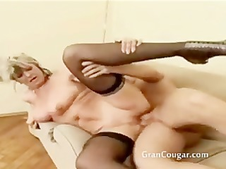 old granny acquires pussy screwed during the time
