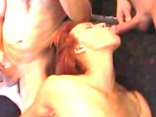 redhead milf bukkake