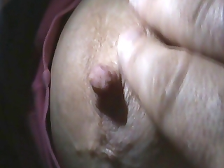 play with my wifes nipples(homemade)