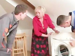 repairmen group sex breasty grandma from one as