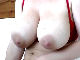 mamma with unshaved slit and toy