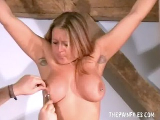 Merciless Tit Tortures of Busty Milf Ginas