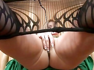 hot mother i in hose disrobes and masturbates