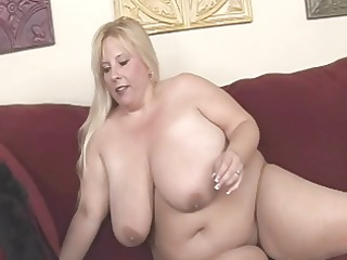 golden-haired bbw-milf with massive bumpers