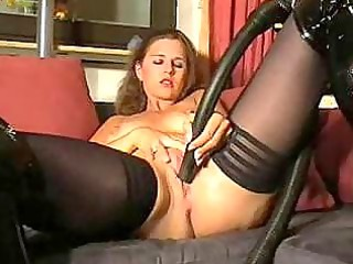 solo mother i in nylons and boots masturbates