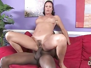 tanned aged brunette hair acquires giant darksome