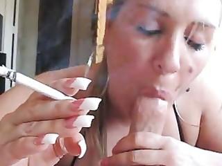 milf smokin bj