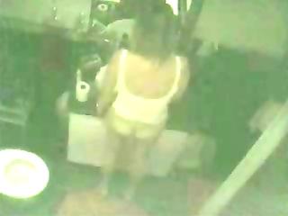 true hidden cam in washroom catches my mamma