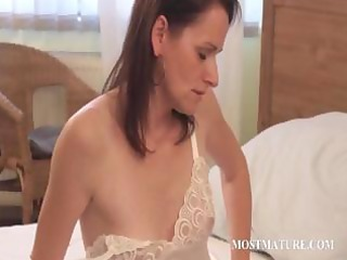 skinny mature playing with hot assets