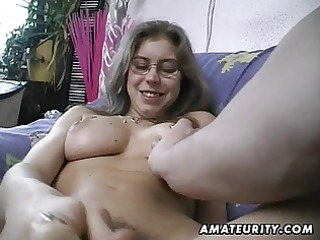 hairy dilettante wife toys and rides a penis with