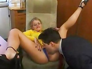 hawt secretary having a pont of time with her boss