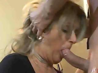 blonde milf in fishnet nylons bonks