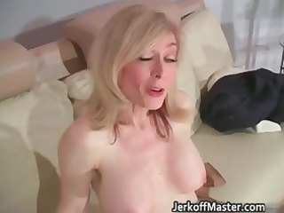 golden-haired mother i nina stripping and rubbing
