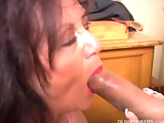 beautiful aged sweetheart gives a oral lesson