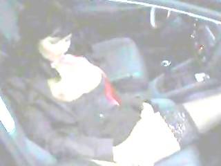 Mature babe masturbating in car