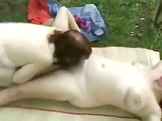 my floozy older wife eating pussy of her