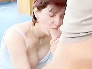 mad old mommy receives fresh cock fucked and